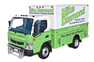 mike diamond plumbing truck