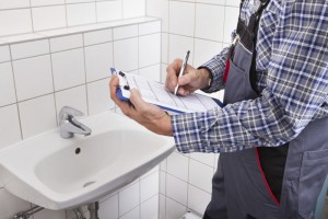 Homeowners should use a bathroom checklist when they move into a new home.