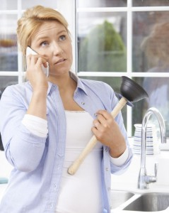 Homeowner frustrated by common residential plumbing problems.