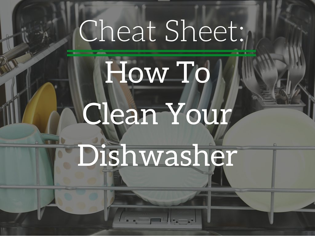 Three steps to clean your dishwasher.