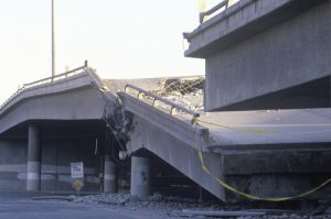 Bridge Damaged from Earthquake