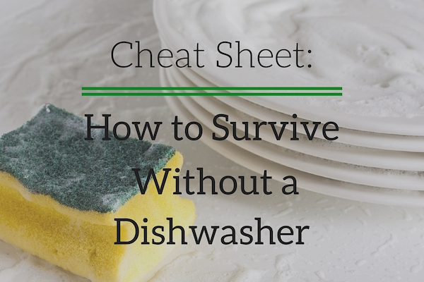 Cheat Sheet: How to Survive Without a Dishwasher 2