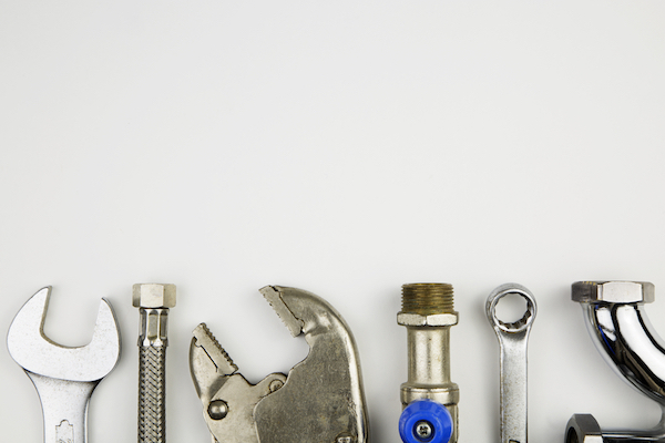 Several tools arranged on white background
